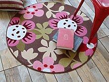 Heimtextilien Runde Teppiche Moderne Minimalist Couchtisch Sofa Korb Große Teppich Schlafzimmer Decke Computer Stuhl Matten ( Farbe : #6 , größe : 90*90cm )