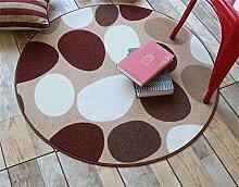 Heimtextilien Runde Teppiche Moderne Minimalist Couchtisch Sofa Korb Große Teppich Schlafzimmer Decke Computer Stuhl Matten ( Farbe : #3 , größe : 120*120cm )