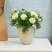 Heimtextilien Schmuck Simulation Blume kleine Paket dekorative Blumen, Seide Blumentisch Blumenschmuck, 28 * 22 * 22 cm, grün
