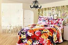 Heimtextilien Winter-Raschel Blanket Double Layer Eindickung Decke Abdeckung Decke Mode Mehrzweckdeckenschlafdecke