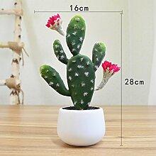 Heimtextilien Zubehör Plant Simulation von kleinen Topfpflanzen Wohnzimmer Fensterbank Blumen bonsai Pflanzen Dekoration Dekoration, vier Ohren rot Cactus