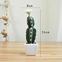 Heimtextilien Zubehör Plant Simulation von kleinen Topfpflanzen Wohnzimmer Fensterbank Blumen bonsai Pflanzen Dekoration Dekoration, Gurken weiße Cactus