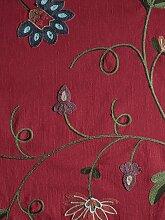 heine home Vorhang 145 cm, Schlaufen, 130 cm rot