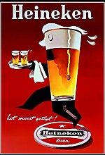 Heineken bier reklame blechschild