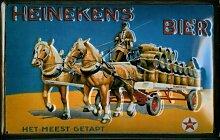 Heinekens Bier Gespann Blechschild 20 x 30 cm