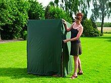 Heinemeyer Schutzhülle 130x90x163/132cm für Strandkorb, mit 2 Reißverschlüssen, Teak-Safe grün