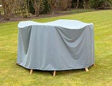 Heinemeyer Schutzhülle 240x180x90cm oval für Tischgruppe, Teak-Safe grau