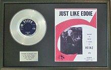 Heinz–Platinum Disc & Lied Tafeltuch Just Like Eddie