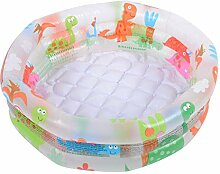 HEIRAO Aufblasbares Baby-Planschbecken, rundes