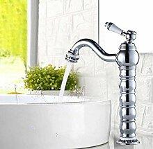 Heiß- und Kaltwasserhahn Waschbeckenmischer Chrom