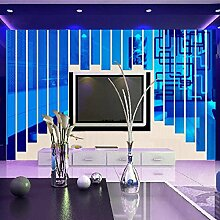 Heiße neue kreative DIY Home Art Decor 3D Wall Sticker Acryl Wandbild Wand Aufkleber Dekoration für TV-Wand Wohnzimmer Veranda Z1, blau, 5 x 30 cm