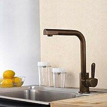 Heiße und kalte Küchenarmatur Waschbecken