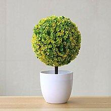 HEIßER Künstliche Pflanzen Bonsai Kleine Baum