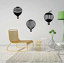 Heißluftballon Cartoon Wandaufkleber Geschnitzte