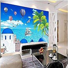Heißluftballon Kokosnussbaum Segeln für Wände