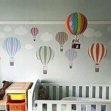 Heißluftballon Schablone Kinderzimmer & Kind