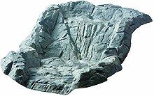 Heissner 80x 58x 31cm Wasserfall Wasser natürlich Shell–Stein grau