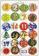 Heitmann Deco Adventskalender Buttons - 24 Zahlen