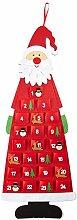 HEITMANN DECO Adventskalender Kinder Filz Santa -