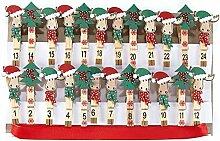 HEITMANN DECO Holz-Klammern Kinder Adventskalender