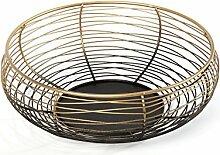 Heitmann Deco Metall-Schale - moderne Deko-Schale aus Metall - Tischdeko im Industriedesign