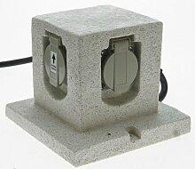 Heitronic Außenleuchte Energiewürfel Grau | 36315
