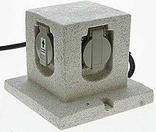 Heitronic Außenleuchte Energiewürfel Grau   36315