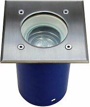 Heitronic Bodenleuchte Spandau Blau Silber IP67  