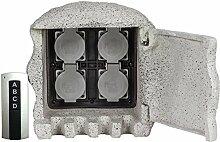 HEITRONIC Händler von Energie Stein 4x RC mit Sockel IP44