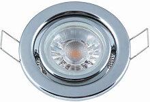 Heitronic LED Einbauleuchte chrom für LED bis 35