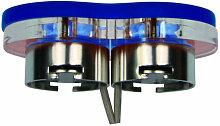 Heitronic LED Einbaustrahler 2 Watt blau mit
