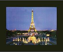 Heitronic LED Leuchtbild Eiffelturm, Kunststoff/