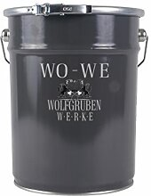 HEIZKÖRPERLACK HEIZUNGSLACK HEIZUNGSFARBE Typ Wolfgruben Werke (WO-WE) W903 für Heizkörper streichen / Heizung LACK FARBE Hitzebeständig / TÜV-GEPRÜFT / Anthrazit-GRAU ähnl. RAL 7016 - 5 Liter