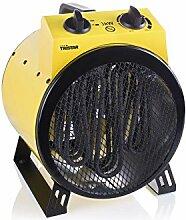 Heizlüfter Elektroheizung Ventilator Spritzwassergeschützt Handgriff Lüfter (Heizgerät, 3000 Watt, Heizung, 3 Stufen, Kabel 1,8 m)