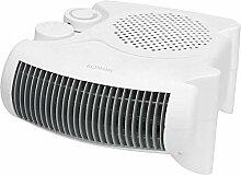 Heizlüfter mit regelbaren Thermostat 2 Stellvarianten Ventilator Heizgerät Elektroheizer 2 Heizstufen (leistungsstarke 2000 Watt + Überhitzungsschutz)