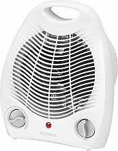 Heizlüfter Regelbarer Thermostat Ventilator Heizgerät Elektroheizer 2 Heizstufen + Tragegriff (Leistungsstarke 2000 Watt + Überhitzungsschutz)