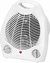 Heizlüfter Thermostat Regelbar Ventilator Heizgerät Elektroheizer 2 Heizstufen Tragegriff (Kaltstufe, Lüfter, Leistungsstarke 2000 Watt, Überhitzungsschutz)