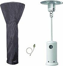 Heizpilz Gas 13kW Weiß Heizkörper-Terrasse (inklusive Tasche und Anschlüsse)