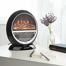 Heizstrahler Kamin-Optik   elektrischer Kamin   Ofen   1500W   schwarz   echte Flammen-Optik   Schwenkfunktion