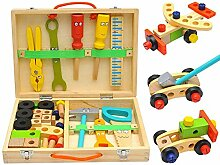 helastplanet Spielwerkzeug Holz Werkzeugkoffer