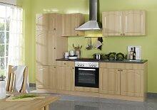 Held Möbel 645.6040 Küchenzeile 270 in Buche / Anthrazi