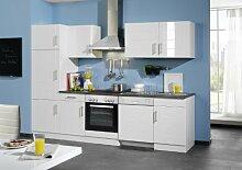 Held Möbel 658.6033 Küchenzeile 280 in Hochglanz-weiß / anthrazi