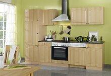 Held Möbel 658.6040 Küchenzeile 280 in Buche / Anthrazi