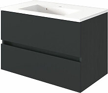Held Möbel Baabe Waschtisch mit Unterschrank 80 cm