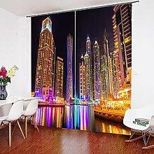 Helengili 3D Fenstervorhang Schöne City