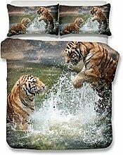 helengili Tiger Series 3d Bettwäsche-Set mit