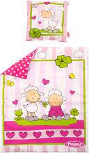 Heless Puppenbettzeug Glücksschäfchen (Pink) [Kinderspielzeug]