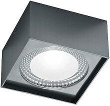 Helestra LED-DECKENLEUCHTE , Nickelfarben, Metall,