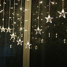 HELEVIA 3,5 m LED Star Lichterketten Vorhang, LED