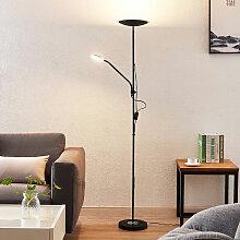 Heliani LED-Stehleuchte, 2-flammig, schwarz -